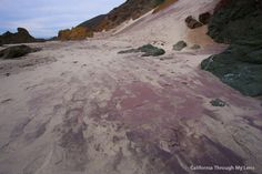 purple sand pfieffer beach, Big Sur Mile marker 46 I believe I saw on tv. Unmarked beach and hard to find.