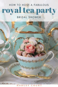Are you considering hosting a royal tea party bridal shower? Whether you are planning a bridal shower or helping plan a bridal shower. You can adapt a tea party bridal shower to any theme. Keep reading and learn how to host a fabulous bridal shower tea party. Hadley Court Interior Design blog by Central Texas Interior Designer, Leslie Hendrix Wood.
