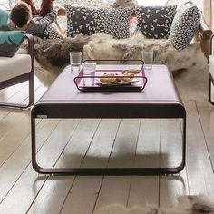 Fermob Bellevie Coffee Table Finish: Steel Grey