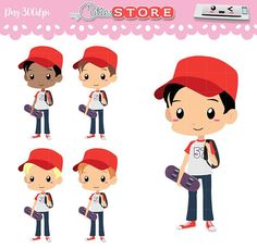 School day Chibi Clipart. Back to school kid with skate. PNG