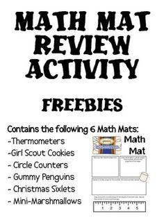 FREEBIES!  A collection of six Math Mat freebies!  These are still available individually for free as well!  Included in this pack are:thermometersgirl ...