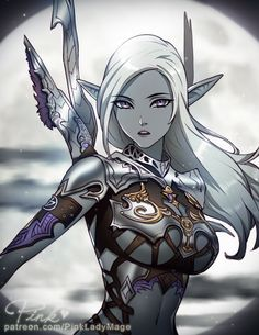 images for anime girl fantasy Fantasy Girl, Fantasy Art Women, Dark Fantasy, Dungeons And Dragons Characters, Dnd Characters, Fantasy Characters, Female Characters, Fantasy Character Design, Character Design Inspiration