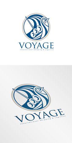 Voyage Shipping Logo by patrimonio on @creativemarket