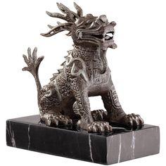CHINESE FOO DOGS | Design Toscano Chinese Guardian Male Lion Foo Dog Statue | Wayfair