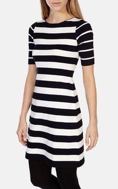 Graphic stripe dress, Karen Millen