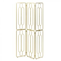 Modern Art Deco Paravent in Gold aus Stahl - cm - Atlanta Art Deco Stil, Modern Art Deco, Color Menta, Color Cobre, Gold Rooms, Panel Room Divider, Dressing Area, 1920s Art Deco, Types Of Wood