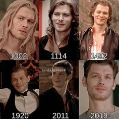 Klaus in some years that were on screen Vampire Diaries Memes, Vampire Diaries Damon, Vampire Diaries The Originals, Hayley And Klaus, Klaus And Caroline, Joseph Morgan, Frases Tvd, Teen Wolf, Klaus The Originals