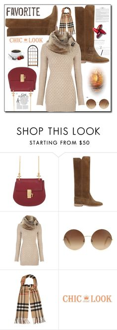 """en el cafe"" by richell948 ❤ liked on Polyvore featuring Chloé, Isabel Marant, Victoria Beckham, Burberry and Whiteley"
