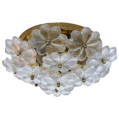 Flower Glass Flush Mount by Ernest Palme   From a unique collection of antique and modern flush mount at https://www.1stdibs.com/furniture/lighting/flush-mount-ceiling-lights/