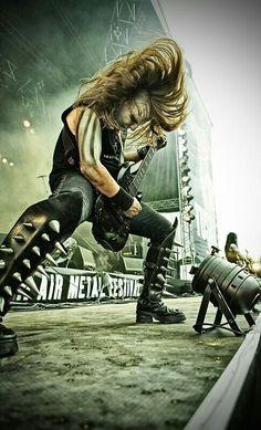Patryk Sztyber, guitarist of metal band Behemoth Heavy Metal Shirts, Heavy Metal Music, Gibson Les Paul, Death Metal, Black Metal, Metal Meme, Hair Metal Bands, Dimmu Borgir, Shirt Designs
