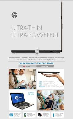 Email Marketing Design - Exclusive: HP's First Ultrabook is Here