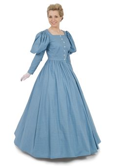 Carrie Victorian Dress By Recollections -    I would add trim, a belt and maybe other accessories to make it really feel like it came from the 1860's.