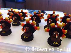 Pavos de Dulce para poner los nombres de los invitados en la mesa de Acción de Gracias.