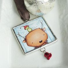 Christmas Ornament  Limited Edition reindeer bird by staceyyacula, $22.00