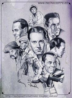 """Henry Fonda,illustration from the book """"Hombres de Hollywood"""".Nacho Castro.Diábolo ediciones"""