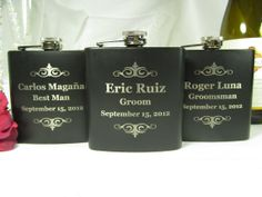 6 personalized flask groomsman best man bridesmaid by engravingwiz 90 00 engraved wedding gifts father