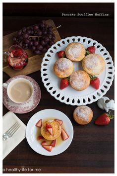 Pancake Souffle Muffins with Strawberry Maple Syrup - A Healthy Life For Me