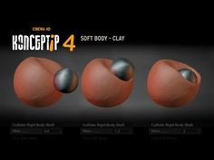 KONCEPTiP 4 - SOFT BODY - Clay - CINEMA 4D - YouTube