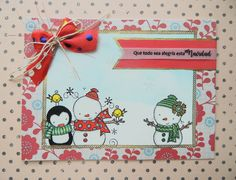 Tarjeta muñecos de Navidad, tarjetas artesanales, tarejtas hechas a mano, tarjetas para toda ocasión