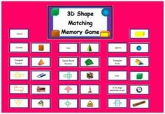 I love #geometry and shapes! Are you teaching about #cubes, cuboids, pyramids, prisms, cones, etc? This 3D Shape Matching Card Game is a 2 in 1 combo. Use it as a memory matching game or print the game out back to back to have each card show its corresponding net or definition on the flip side. Instructions are included. $3.00