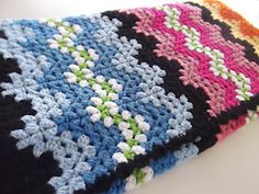 """Very pretty ripple blanket. The Pattern from Jan Eatons, Ripple Stitch Patterns, """"Storm Clouds"""""""