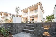 Austral Masonry is an Australian manufacturer of concrete blocks, pavers and retaining walls in Sydney, Melbourne, Brisbane and across Australia. Masonry Blocks, Retaining Wall Blocks, Brick Masonry, Concrete Blocks, Retaining Walls, Facade House, House Facades, Backyard Renovations, Glass Brick