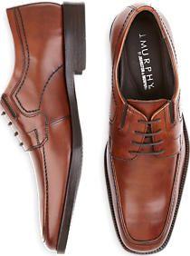 J. Murphy by Johnston & Murphy Cognac Lace-Up Shoes
