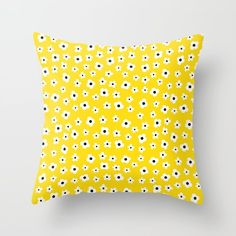 Design your everyday with yellow throw pillows you'll love for your couch or bed. Discover patterns and designs from independent artists across the world. Yellow Spring Flowers, Yellow Throw Pillows, Flower Patterns, Decor Styles, Design, Dorm, College, Yellow Pillows, Dormitory