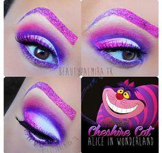 Cheshire Cat inspired blue purple & white eyes