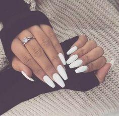 White nails :)