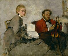 Edgar Degas (1834-1917, France)   Violoniste et Jeune Femme, ca. 1871 (Detroit Institute of Arts, DIA)