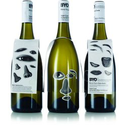 'Build Your Face' Wine Design by The Creative Method