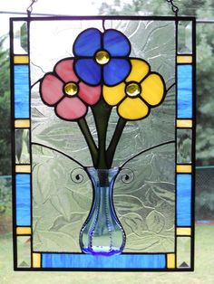stained glass panel flowers | Add it to your favorites to revisit it later.