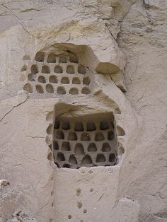 Dovecote, Cappadocia, Turkey.  These man made resting places for the birds allow the locals to collect the guano for agriculture. (By Catherine Mortensen on Flickr)