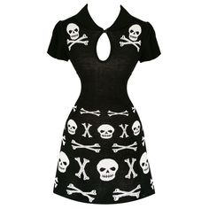 Banned Black Skull and Cross Bones Gothic Occult Party Mini Jumper Dress UK in Clothes, Shoes & Accessories, Women's Clothing, Dresses | eBay!