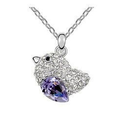 Visit: http://pinterestjewellerygifts.tumblr.com/post/85600387052/jbg-delicate-tanzanite-bird-shape-crystal-pendant Pinterest Jewellery Gifts — JBG Delicate Tanzanite Bird Shape Crystal Pendant Necklace-Lovebirds Fashion Charms Jewelry Personality Gift in a Nice Jewellery Box