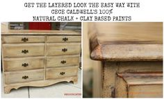Layered look the easy way with CeCe Caldwell's 100% Natural Chalk + Clay Based paints. REDOUXINTERIORS.COM FACEBOOK: REDOUX INSTAGRAM: REDOUXINTERIORS