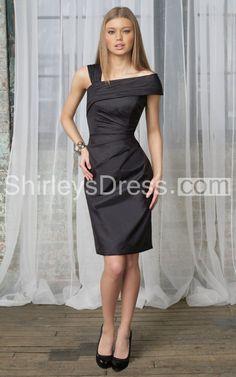 Sophisticated Asymmetrical Side-ruched Pencil Taffeta Dress