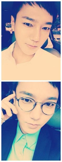Super Junior Yesung's selcas, neat look or businessman-type look?