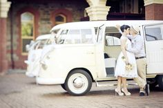 A couple after my own heart. VW buses! DUH!!