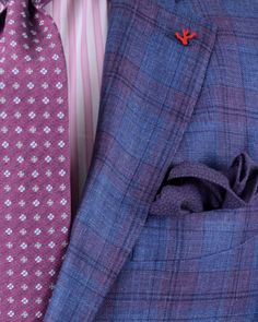   Blue and Purple Plaid Sportcoat  