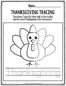 Printable Literacy Thanksgiving Preschool Worksheets