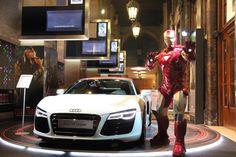 Super Hero. Supercar. Iron Man Audi R8 E-Tron | (VIDEO)