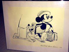 Mickey Mouse Framed Print Society Dog Show by DexterandOswald, $120.00