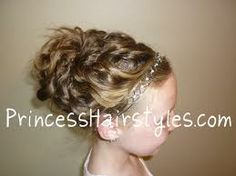 curly updo hairstyles for daddy daughter dance - Google Search