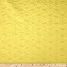 HGTV HOME Hex Appeal Solid Jacquard Wheatgrass from @fabricdotcom  Refresh and modernize an old piece of furniture and update it with a new look. This heavyweight solid jacquard fabric is appropriate for some window treatments, accent pillows, upholstering furniture, headboards and ottomans. This fabric has 42,000 double rubs.