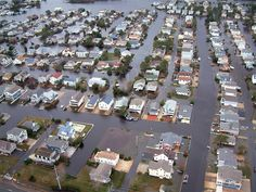 Homes in Fenwick Island, Del., are surrounded by floodwaters from superstorm Sandy on Tuesday, Oct. 30, 2012.