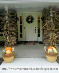 90 Fall Porch Decorating Ideas.