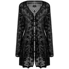 Black Lace Hollow Out Sheer Elegant Ladies Trench Coat ($21) ❤ liked on Polyvore featuring outerwear, coats, jackets, black, trench coat, lace coat and lace trench coat