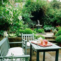 Duck egg blue garden furniture